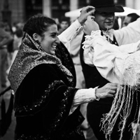 Madrid dancers (b/w)